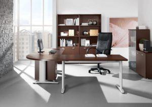 ufficio scrivania con penisola