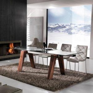 tavolo legno e vetro