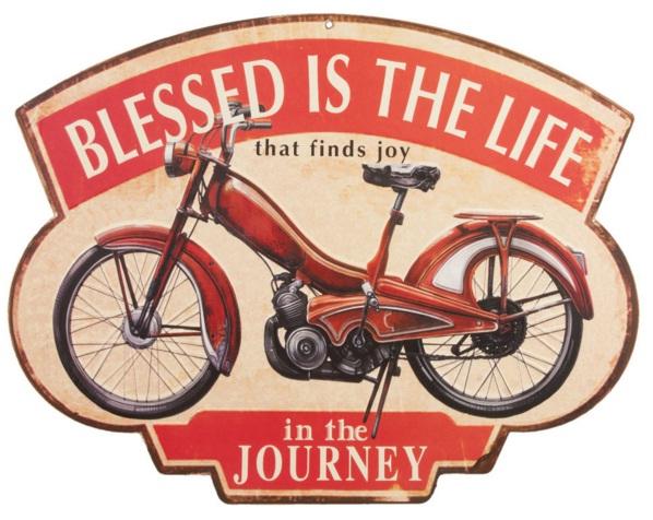 tela in ferro con motocicletta