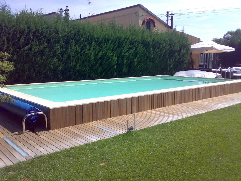 Piscine Da Esterno Rivestite In Legno le piscine fuori terra per giardini e terrazzi - lartedinnovare
